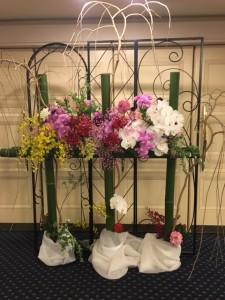 受付 お花