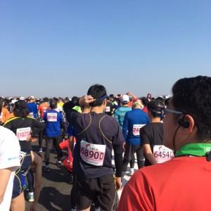 マラソン開始直前