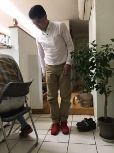 靴を履いた浩一