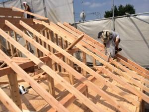屋根垂木③